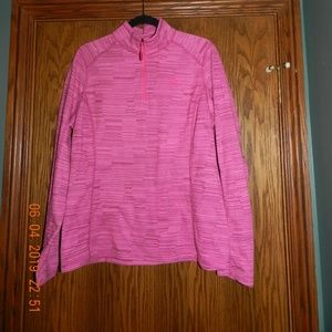Women's North Face Pink Heather 1/4 Zip Pullover